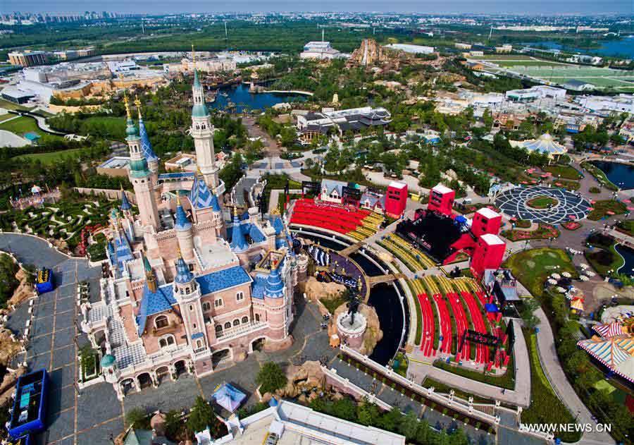 Visão aérea do Resort de Disney Shanghai
