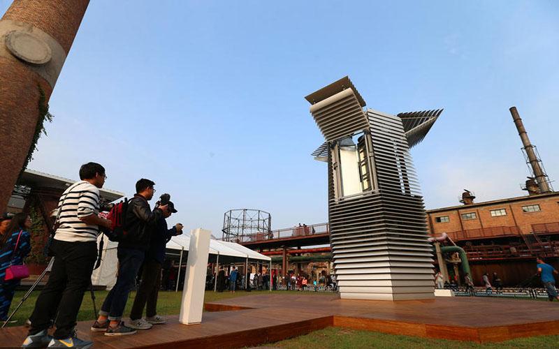Maior purificador atmosférico do mundo em exposição na capital chinesa