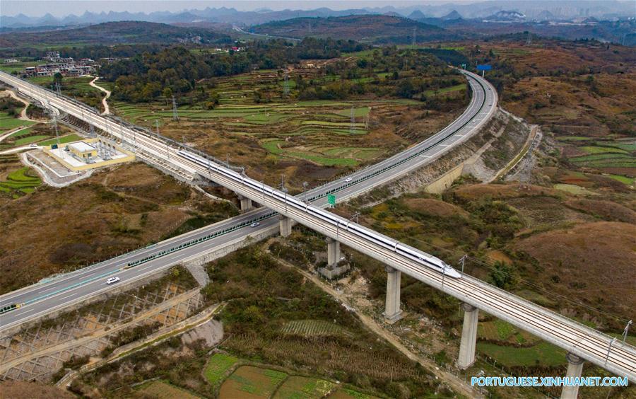 Ferrovia de alta velociade de Shanghai-Kunming estará em pleno funcionamento