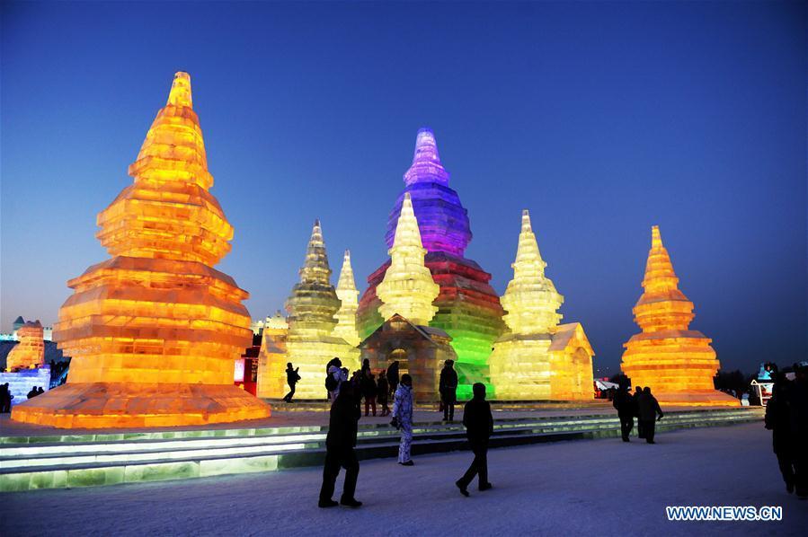 Mundo de Gelo e Neve abre ao público em Harbin