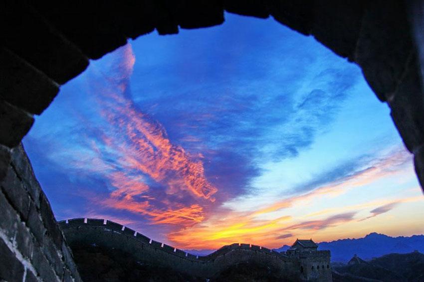 Paisagem da Grande Muralha em Jinshanling