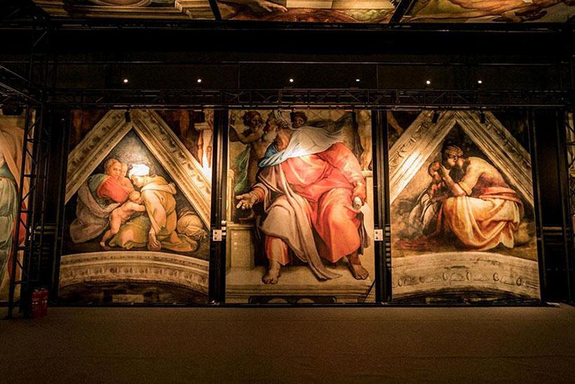 Frescos de Michelangelo recriados em Shanghai