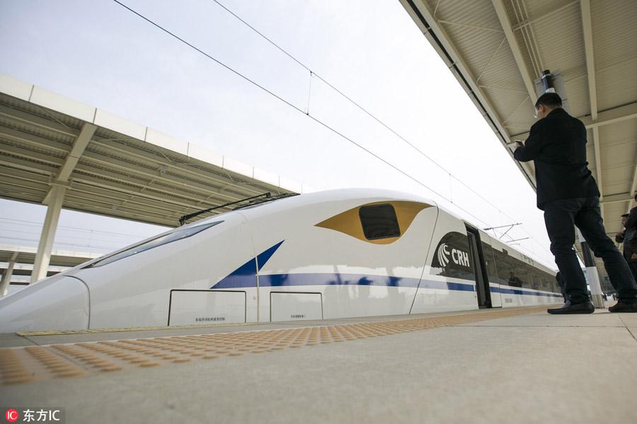 Ferrovia de alta velocidade entre Xi'an e Chengdu realiza teste de operação