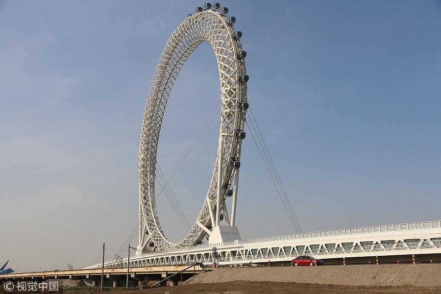 Maior roda gigante sem eixo do mundo construída na China