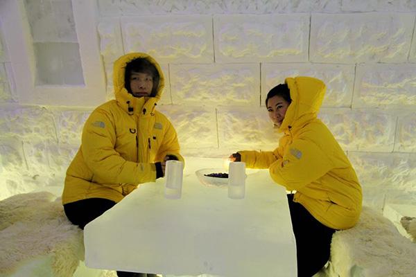 Primeiro hotel de gelo da China aberto na Mongólia Interior
