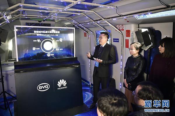 BYD lança sistema de condução não tripulada para o monotrilho